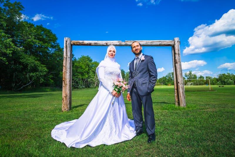 Algerijns en Canadees Huwelijk stock foto's