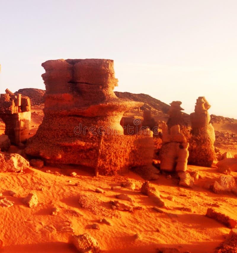 Algerijnse woestijn de Sahara royalty-vrije stock afbeelding