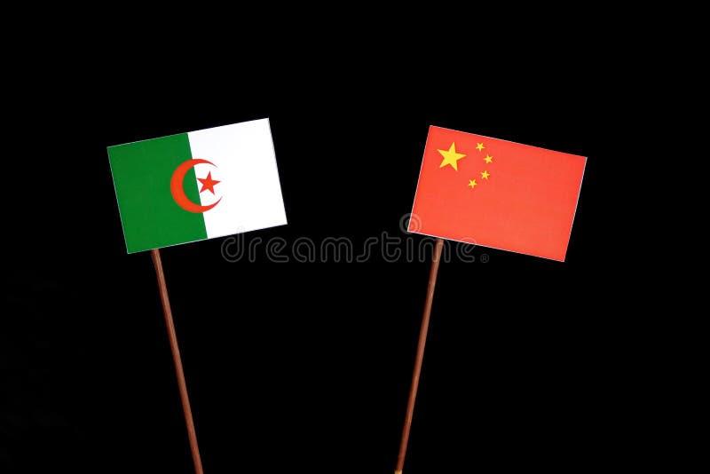 Download Algerische Flagge Mit Der Chinesischen Flagge Lokalisiert Auf Schwarzem Stockbild - Bild von schwarzes, regierung: 96931183