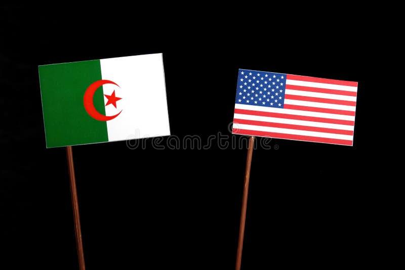 Download Algerische Flagge Mit USA-Flagge Lokalisiert Auf Schwarzem Stockfoto - Bild von abbildung, mitarbeit: 96931322