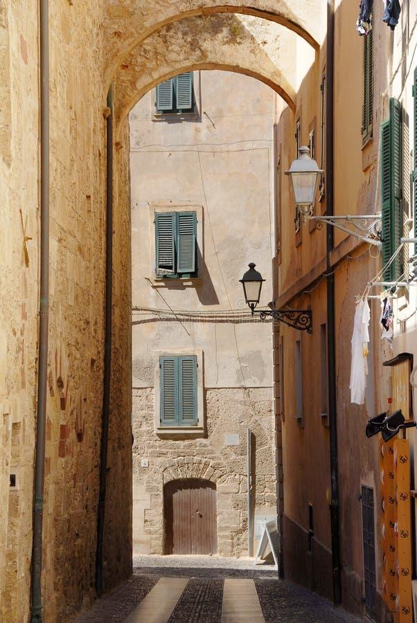 alghero意大利撒丁岛 免版税库存图片