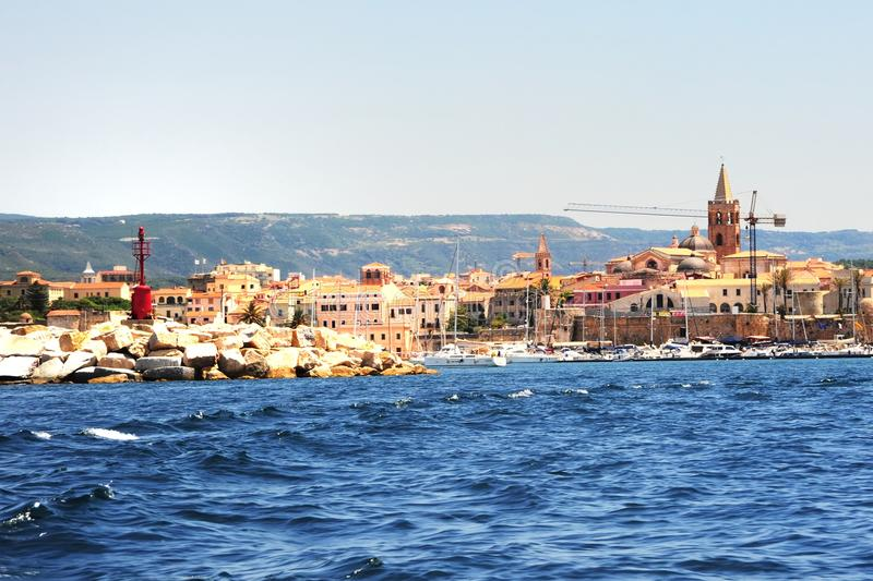 Alghero, Сардиния стоковые фото