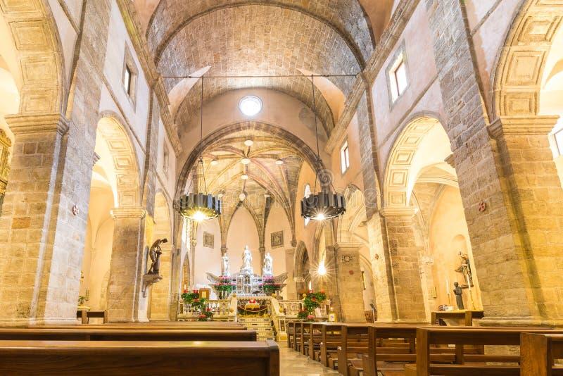 Alghero Cathedral, Sardinia island, Italy stock image