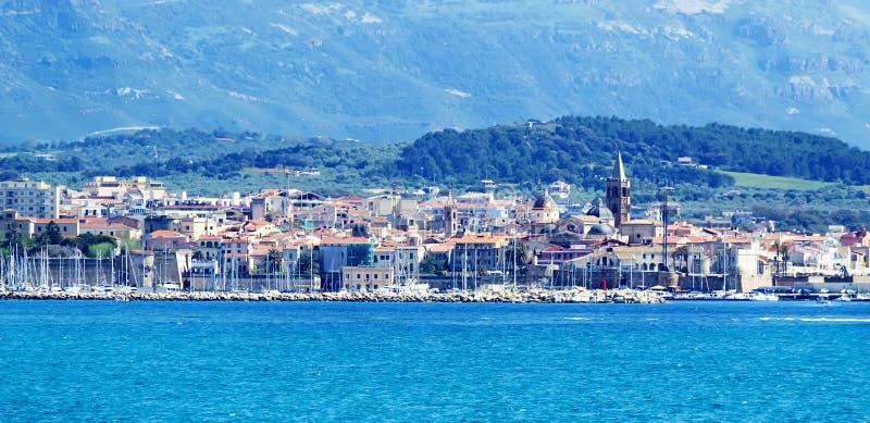 Download Alghero harbor stock image. Image of italy, sunny, sunlight - 24717375