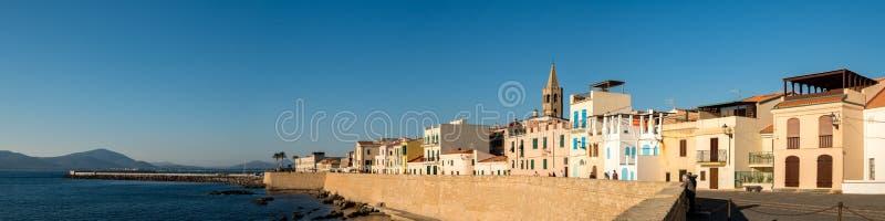 Alghero on Sardinia in the evening light stock photos