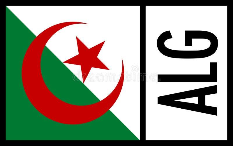 Algieria flaga - ikona zdjęcia royalty free