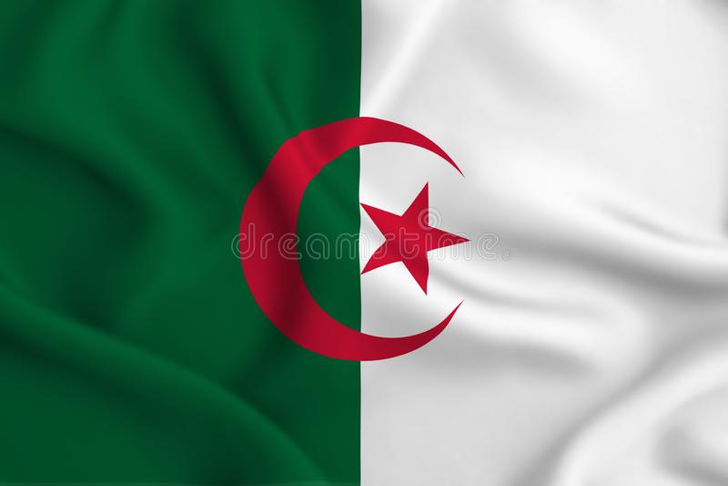 Algieria flaga ilustracja royalty ilustracja