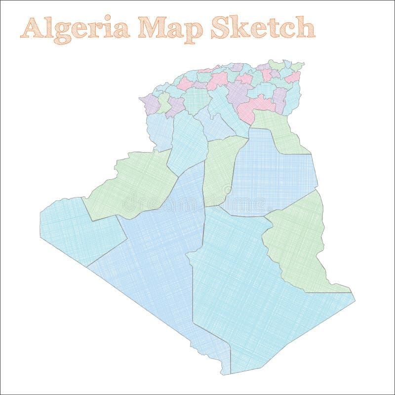 Algieria mapa ilustracji