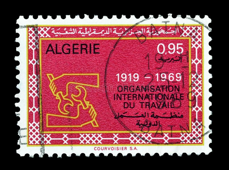 Algieria na znaczkach pocztowych zdjęcie stock