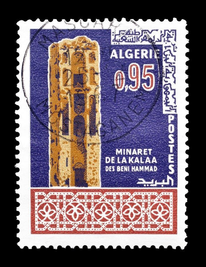 Algieria na znaczkach pocztowych fotografia royalty free