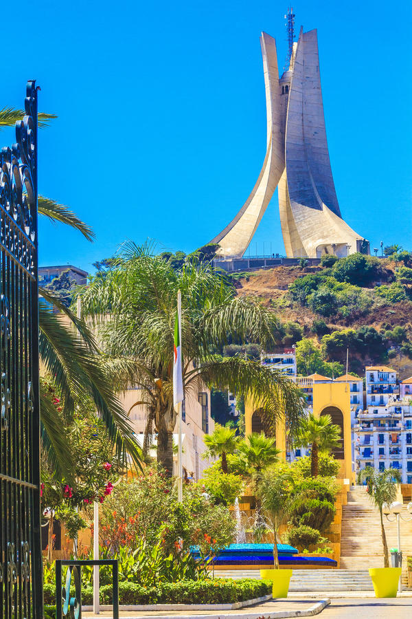 Welcome to Algeria. The city of Algiers the capital of Algeria royalty free stock images