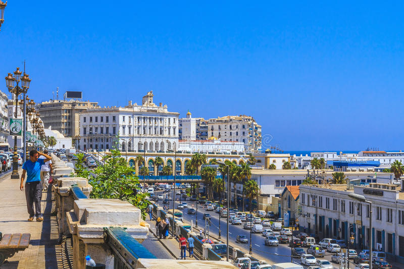 Algiers. The city of Algiers the capital of Algeria royalty free stock photos