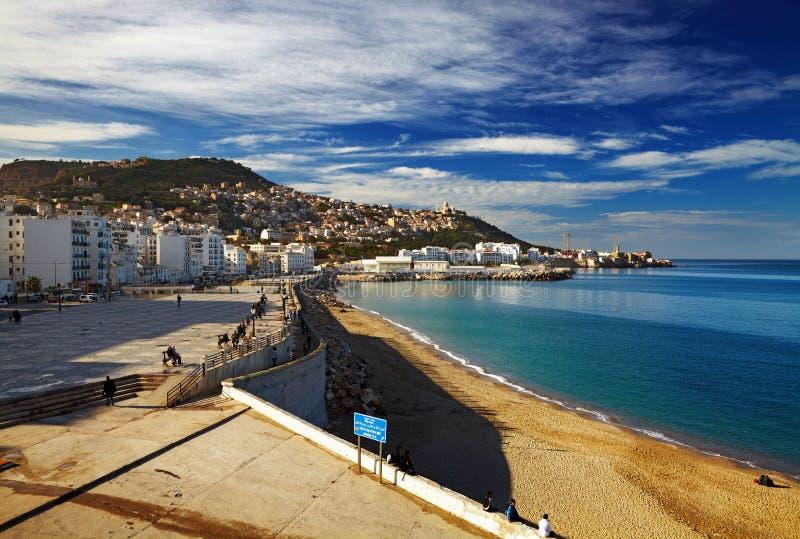 Algiers de hoofdstad van Algerije stock afbeelding