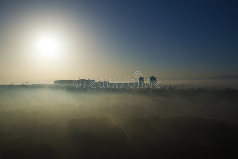 Algiers in the mist stock photos