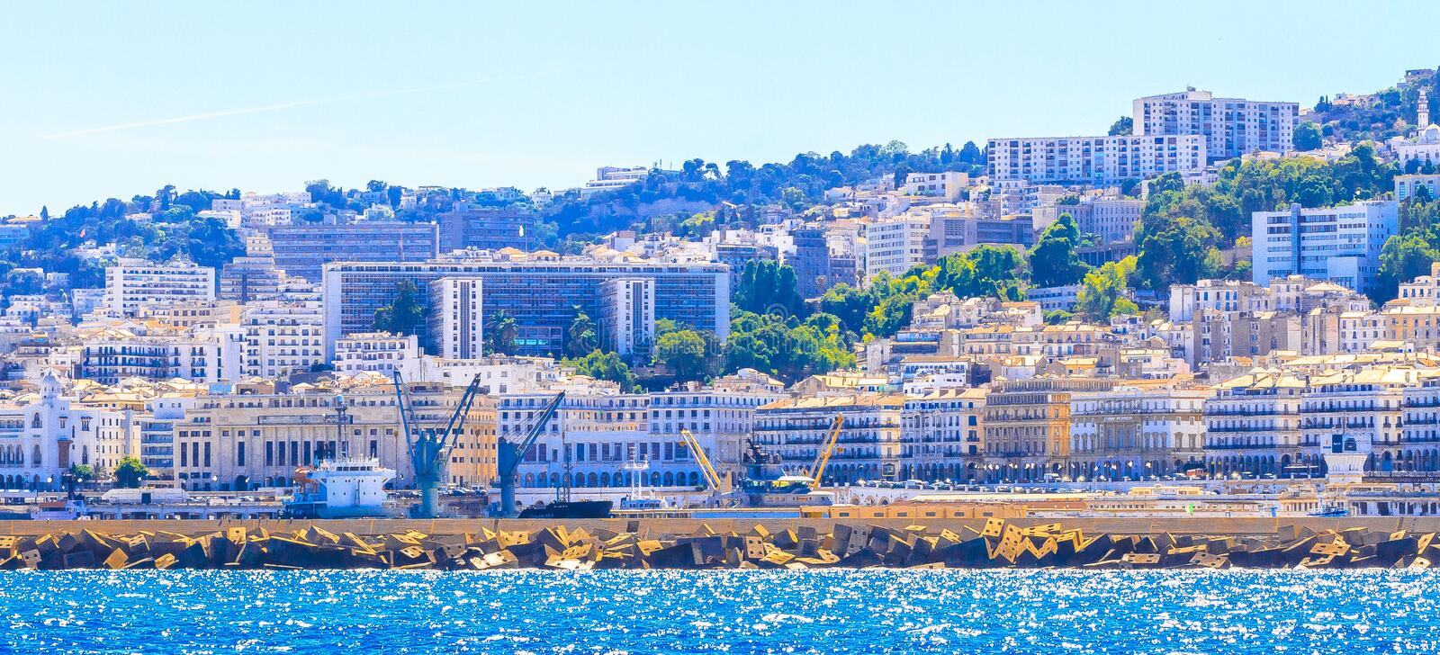 Algiers. An overview of Algiers in Algeria stock photo