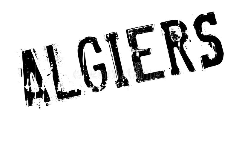 Algiers stamp rubber grunge. Algiers stamp. Grunge design with dust scratches. Effects can be easily removed for a clean, crisp look. Color is easily changed royalty free illustration