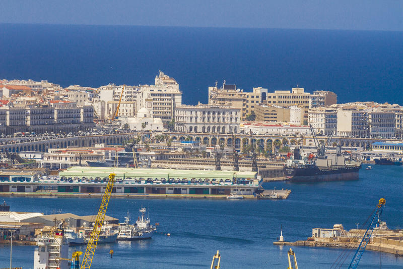 Algiers. View of Algiers, the capital city of Algeria stock image