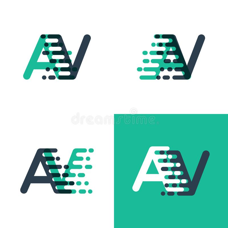 Algo le gusta el logotipo de las letras del sistema de pesos americano con velocidad del acento en verde del tosca y azul marino stock de ilustración