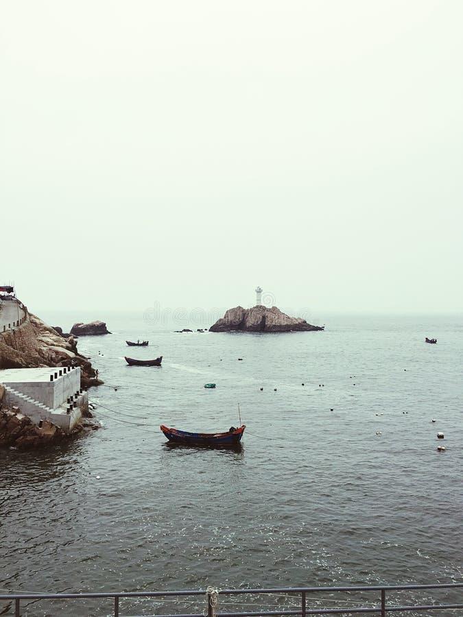 Algo romántico sobre Dong Ji Islands foto de archivo