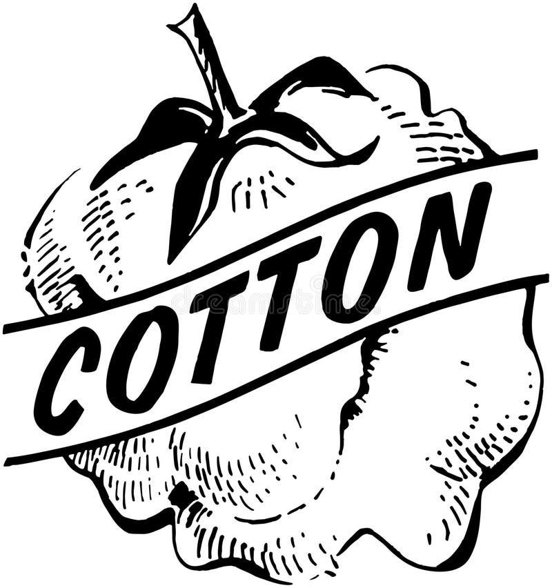 algodão ilustração stock
