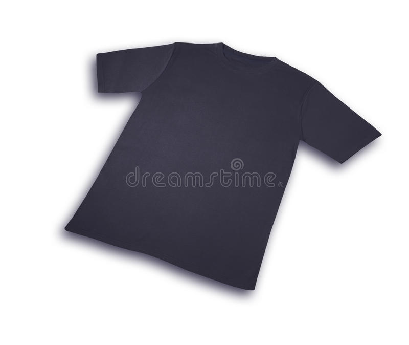 Algodón de las camisetas azul marino   imagen de archivo libre de regalías