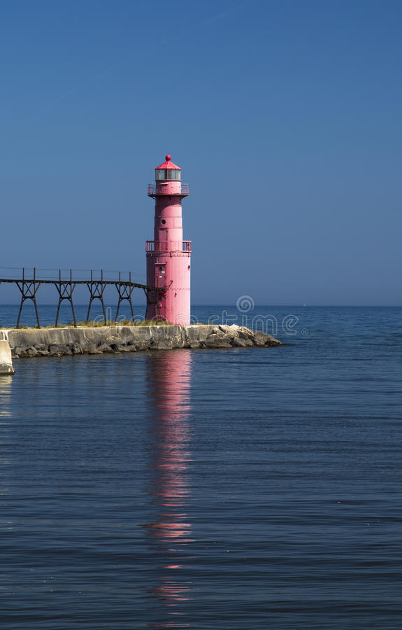 Algoma LIght House in the early morning royalty free stock image