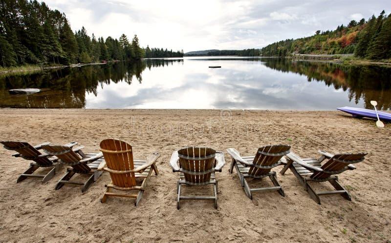 Algonquin parkerar Muskoka Ontario sjövildmarken royaltyfria bilder