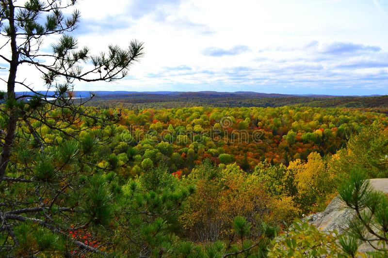 Algonquin Provincial Park, Ontario, Canada. Beautiful fall landscape with lake and mountains. N stock images