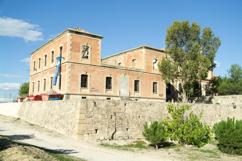 Algorfa kościół wznawia zdjęcie stock