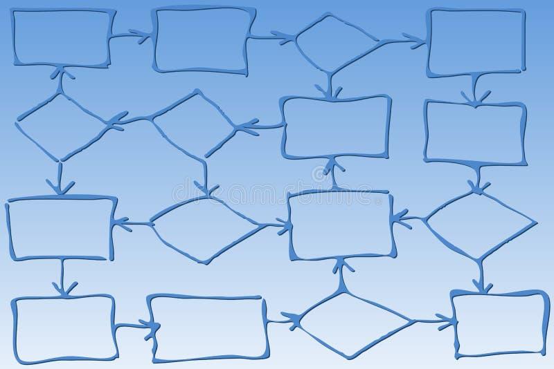 Algorithm. Graphic illustration of an algorithm stock illustration