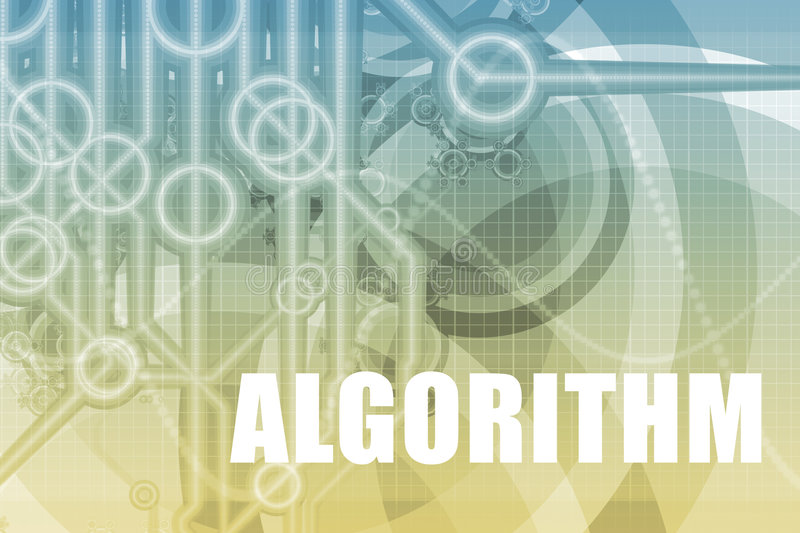 Algorithm Abstract. Algorithm Tech Abstract Background in Blue Color royalty free illustration