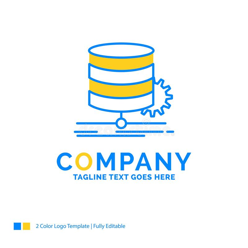 Algorithm, chart, data, diagram, flow Blue Yellow Business Logo. Template. Creative Design Template Place for Tagline stock illustration
