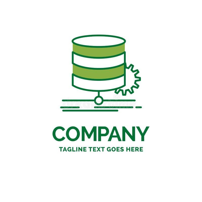 Algorithm, chart, data, diagram, flow Flat Business Logo templat. E. Creative Green Brand Name Design stock illustration