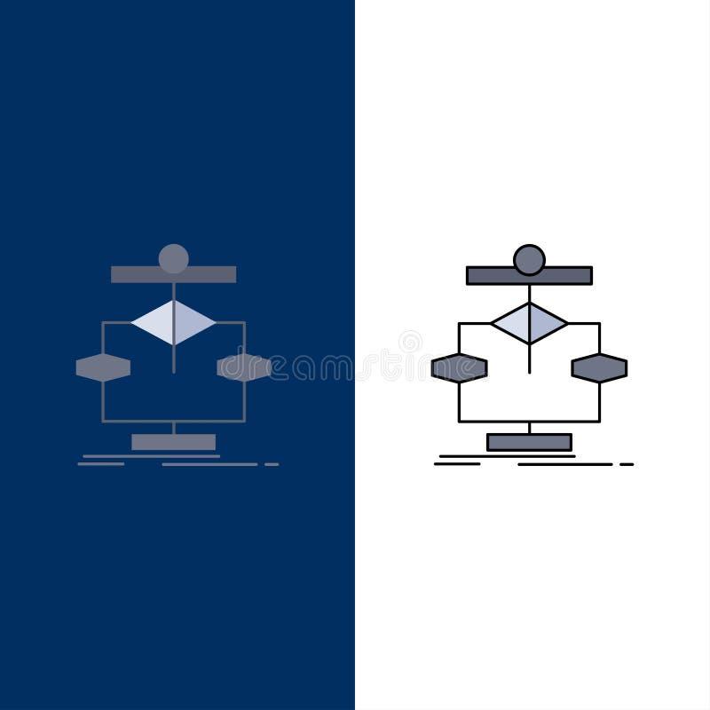 Algorithm, chart, data, diagram, flow Flat Color Icon Vector stock illustration