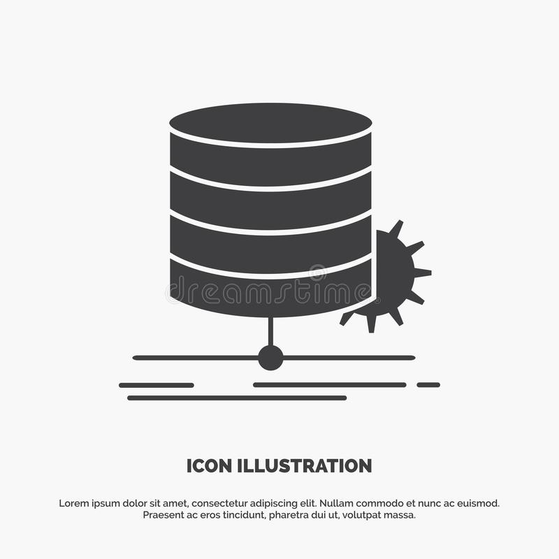 Algorithm, chart, data, diagram, flow Icon. glyph vector gray symbol for UI and UX, website or mobile application. Vector EPS10 Abstract Template background royalty free illustration