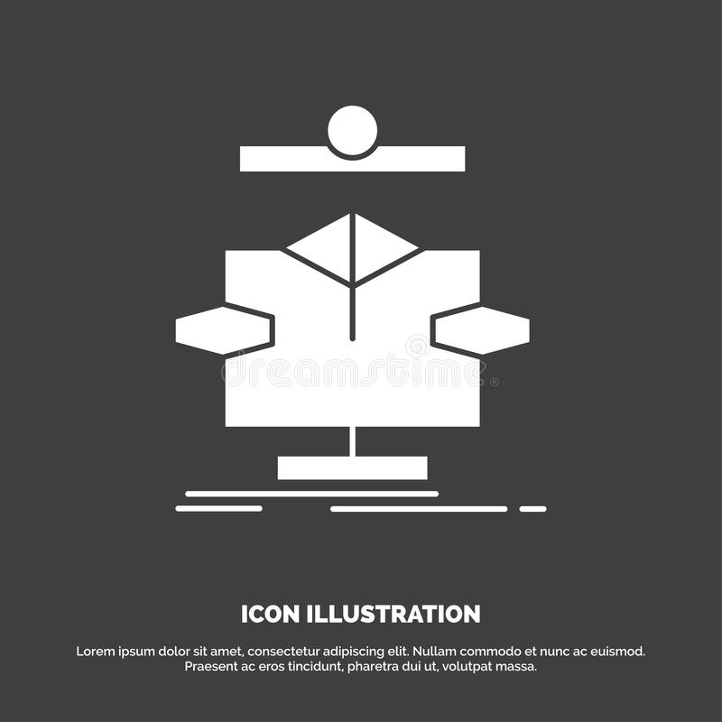 Algorithm, chart, data, diagram, flow Icon. glyph vector symbol for UI and UX, website or mobile application. Vector EPS10 Abstract Template background vector illustration