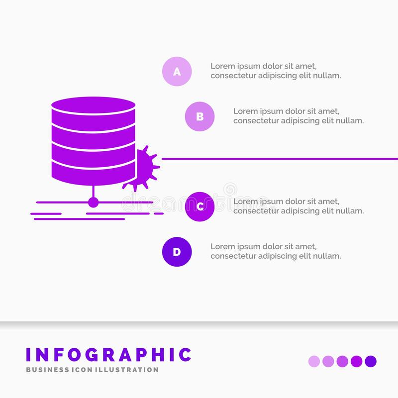 Algorithm, chart, data, diagram, flow Infographics Template for Website and Presentation. GLyph Purple icon infographic style. Vector illustration.. Vector stock illustration