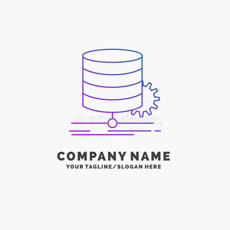 Algorithm, chart, data, diagram, flow Purple Business Logo Template. Place for Tagline. Vector EPS10 Abstract Template background royalty free illustration