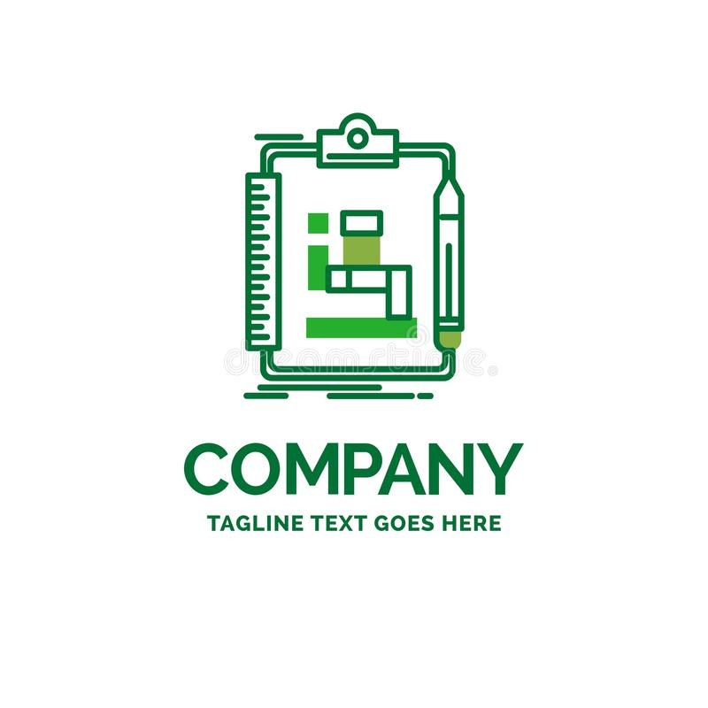 Algorithm, process, scheme, work, workflow Flat Business Logo te vector illustration