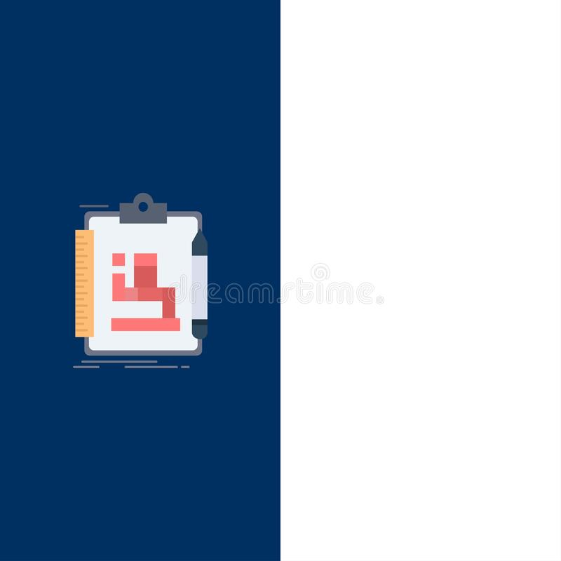 Algorithm, process, scheme, work, workflow Flat Color Icon Vector royalty free illustration