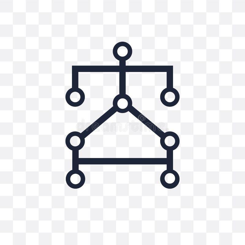 Algorithm transparent icon. Algorithm symbol design from Program vector illustration