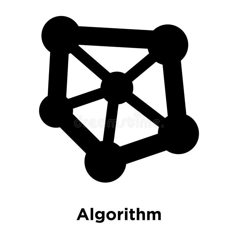 Algorithmusikonenvektor lokalisiert auf weißem Hintergrund, Logokonzept lizenzfreie abbildung