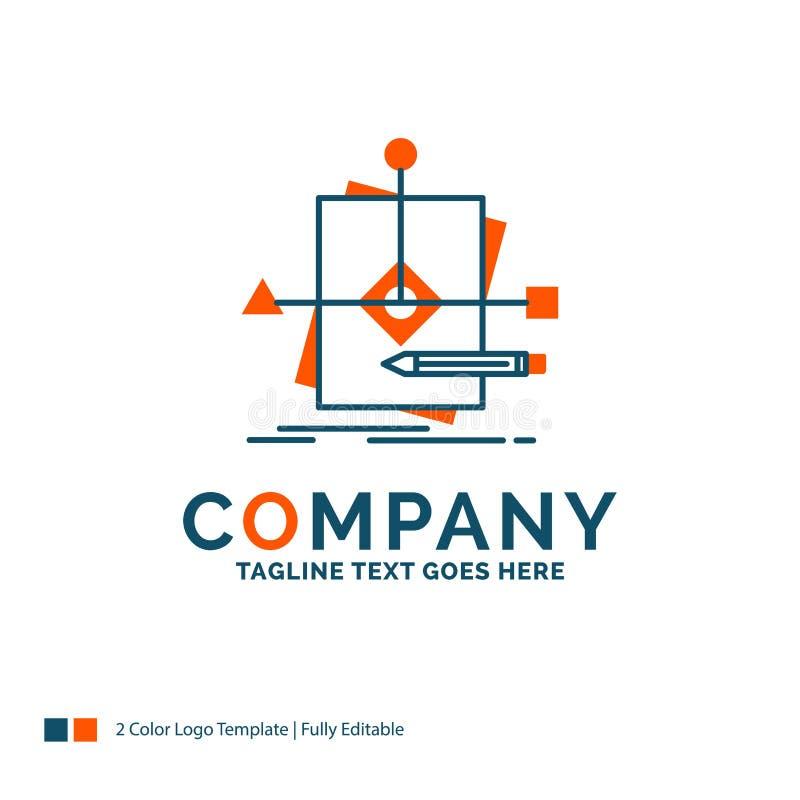 Algoritm affär som förutsäger, modell, plan Logo Design Blått vektor illustrationer