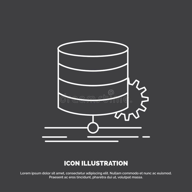 Algoritm diagram, data, diagram, fl?dessymbol Linje vektorsymbol f?r UI och UX, website eller mobil applikation vektor illustrationer