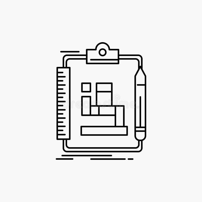 Algoritm process, intrig, arbete, workflowlinje symbol Vektor isolerad illustration vektor illustrationer