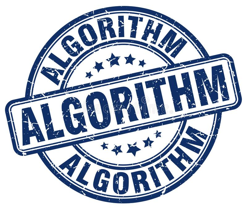 algoritme blauwe zegel royalty-vrije illustratie