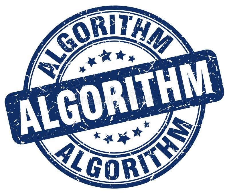 algoritme blauwe zegel vector illustratie