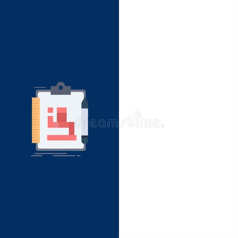 Algoritme, proces, regeling, het werk, het Pictogramvector van de werkschema Vlakke Kleur royalty-vrije illustratie
