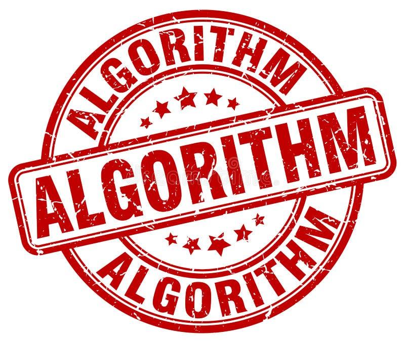 algoritme rode zegel royalty-vrije illustratie