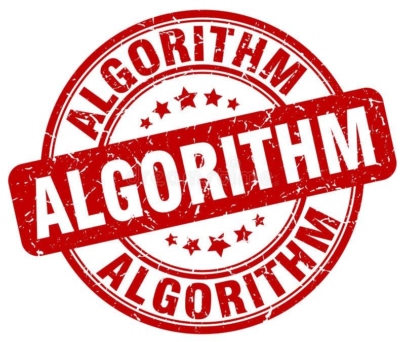 algoritme rode zegel stock illustratie